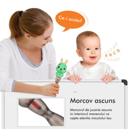 Jucarie muzicala electronica Maracas, cu zornaitoare, pentru copii si bebelusi, verde [4]