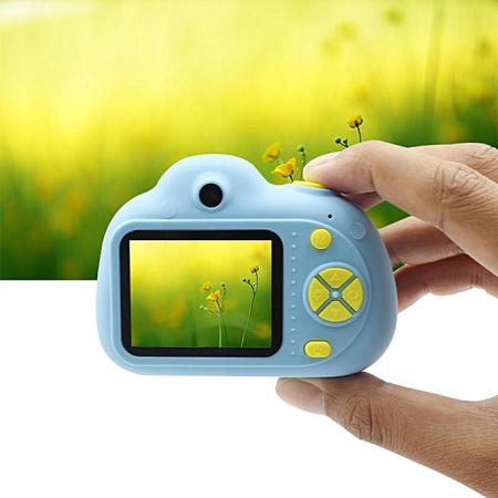 Aparat Foto Compact pentru Copii, Albastru, cu functie Selfie, Recunoastere Faciala, Filmare HD3