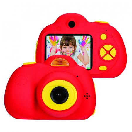 Aparat Foto Compact pentru Copii, Rosu, cu functie Selfie, Recunoastere Faciala, Filmare HD2