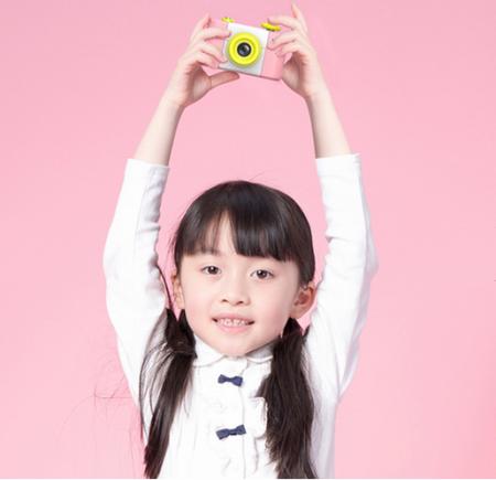 Aparat Foto Compact pentru Copii, Roz, cu Obiectiv, Fotografiere Full HD, Filmare HD + Cadou Husa de protectie2