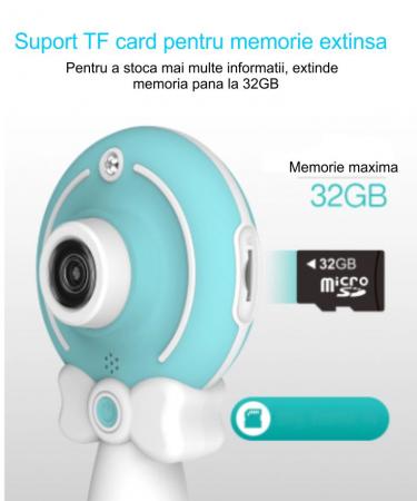 Aparat foto copii, SMARTIC ®, full HD, Magic Mirror V2, display 2.0 inch, blitz de tip LED, BPA free, Albastru/Alb [3]