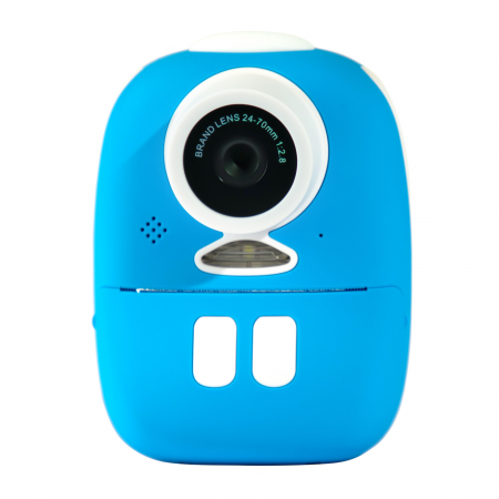 Aparat foto digital instant pentru copii, Lentile Duble, Imprimare Instant, Inregistrare Video, Focalizare Automata, Functie Selfie, 1080P HD, 18MP, 2.0 inch, Smartic®, albastru [1]