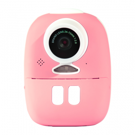 Aparat foto digital instant pentru copii, Lentile Duble, Imprimare Instant, Inregistrare Video, Focalizare Automata, Functie Selfie, 1080P HD, 18MP, 2.0 inch, Smartic®, roz1