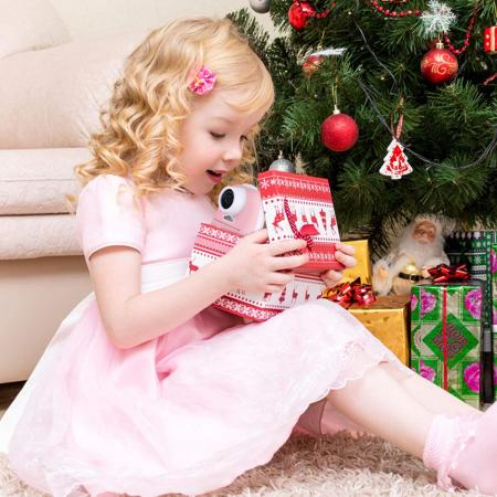 Aparat foto digital instant pentru copii, Lentile Duble, Imprimare Instant, Inregistrare Video, Focalizare Automata, Functie Selfie, 1080P HD, 18MP, 2.0 inch, Smartic®, roz7