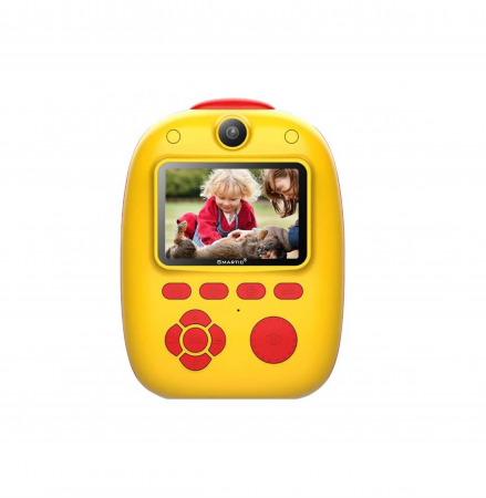 Aparat foto digital instant pentru copii, Lentile Duble, Imprimare Instant, Inregistrare Video, Focalizare Automata, Functie Selfie, 1080P HD, 18MP, 2.0 inch, Smartic®, rosu/galben0