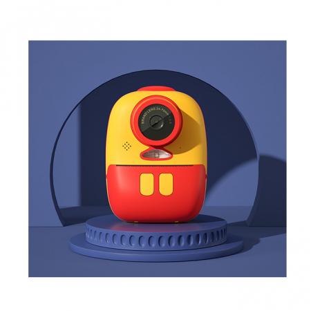 Aparat foto digital instant pentru copii, Lentile Duble, Imprimare Instant, Inregistrare Video, Focalizare Automata, Functie Selfie, 1080P HD, 18MP, 2.0 inch, Smartic®, rosu/galben5