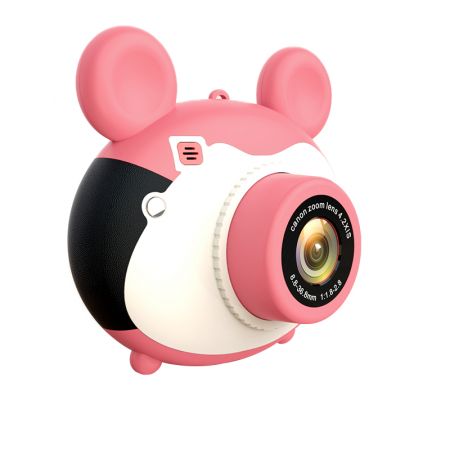 Aparat foto pentru copii, Design Mickey Mouse, Display 2 inch, Microfon incorporat, Rezolutie 1080P, Wi-Fi, Functie inregistrare, Muzica, Smartic®, roz [0]