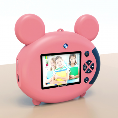 Aparat foto pentru copii, Design Mickey Mouse, Display 2 inch, Microfon incorporat, Rezolutie 1080P, Wi-Fi, Functie inregistrare, Muzica, Smartic®, roz [2]