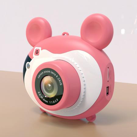 Aparat foto pentru copii, Design Mickey Mouse, Display 2 inch, Microfon incorporat, Rezolutie 1080P, Wi-Fi, Functie inregistrare, Muzica, Smartic®, roz [1]