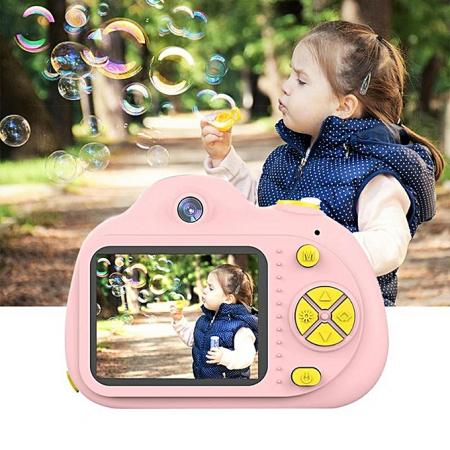 Aparat Foto pentru copii SMARTIC, Compact , Roz, cu functie Selfie, Recunoastere Faciala, Filmare HD1