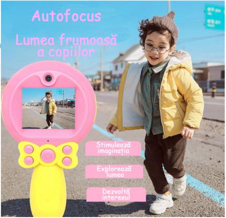 Aparat foto pentru Copii, SMARTIC, Magic Mirror, Roz4