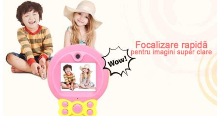 Aparat foto pentru Copii, SMARTIC, Magic Mirror, Roz2