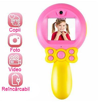 Aparat foto pentru Copii, SMARTIC, Magic Mirror, Roz1