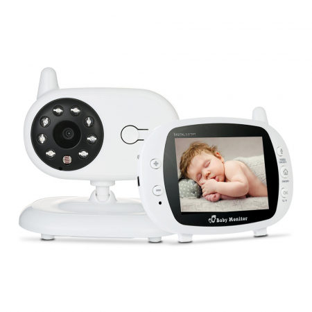 Pachet promo:Baby Monitor Audio Video, Wireless Nanny + Masinuta eccologica, interactiva Caprita1