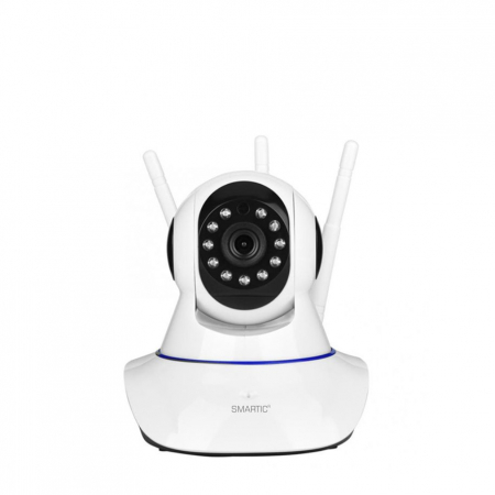 Baby monitor Camera Wireless V380IP, 3 antene 1080P, WiFi, NightVision, Aplicatie Telefon Mobil SMARTIC®, alb6
