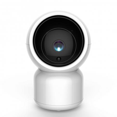 Baby monitor SM956, Display TFT 5 inch, Raza actiune 100 m,  Rotire orizontala 355° / verticala 55°, Night Vision, Comunicare bidirectionala, Cantece leagan, Monitorizare temperatura, Smartic®, alb [3]