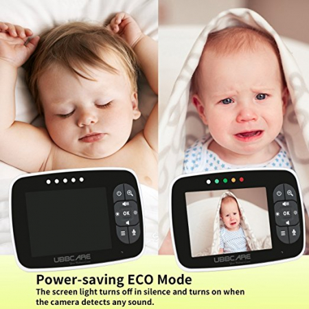 Baby Monitor Smart SI-LiveSmart SM36, model 2018, WI-FI 2,4Ghz, Talk-Back, Activare Vocala, Cantece Leagan incorporate3