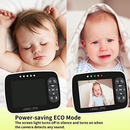 Baby Monitor Smart SI-LiveSmart SM36, model 2019, WI-FI 2,4Ghz, Talk-Back, Activare Vocala, Cantece Leagan incorporate3
