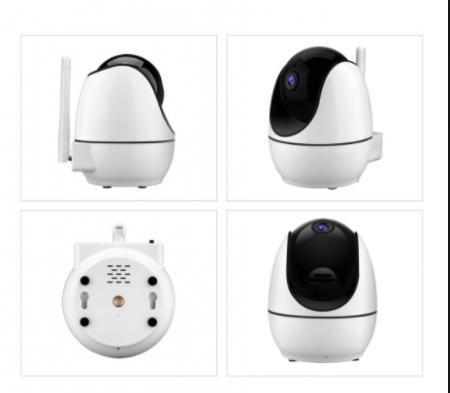 Baby monitor Smartic® BM500 Ecran 5 inch, TouchScreen, Night Vision, Comunicare Bidirectionala, Rotire Automata 355ᵒ, Cantece leagan, Monitorizare Temperatura, Raza 300 m, alb/negru [8]
