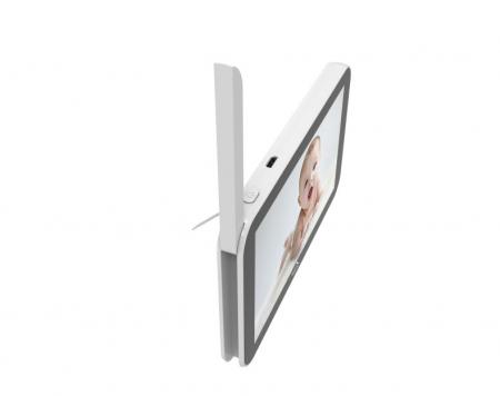 Baby monitor Smartic® BM500 Ecran 5 inch, TouchScreen, Night Vision, Comunicare Bidirectionala, Rotire Automata 355ᵒ, Cantece leagan, Monitorizare Temperatura, Raza 300 m, alb/negru [5]