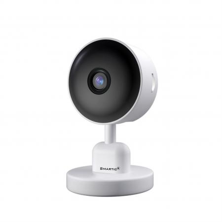 Baby Monitor V1, Rezolutie HD 1920 x 1080P, WiFi, Functia Night Vision, Aplicatie Telefon, Smartic®, alb [1]