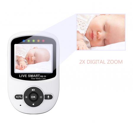 "Baby Monitor Video pentru bebelusi SI-LiveSmart SM24, night vision, TFT 2,4"",alarma temperatura,300 m ,360⁰5"