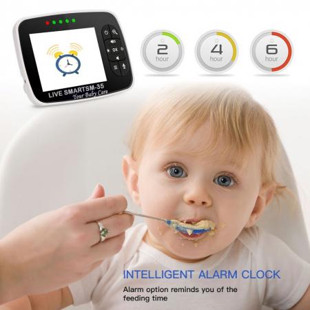 "Baby Monitor Video pentru bebelusi SI-LiveSmart SM35, night vision, TFT 2,5"",alarma temperatura,300 m ,360⁰ [2]"