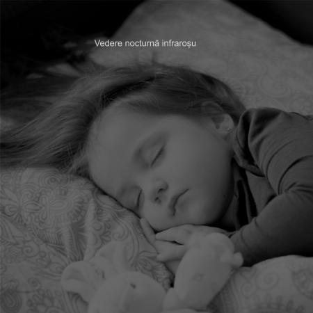 Baby Monitor Wireless cu picior flexibil, Rezolutie 1080P, WiFi, Night Vision, Aplicatie Telefon, Smartic®, alb [6]
