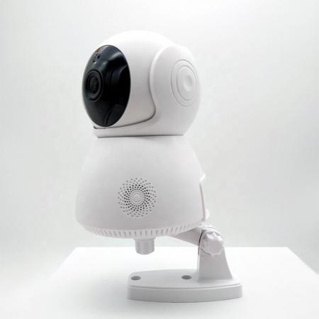 Baby Monitor Wireless Q9, Rezolutie HD 1920 x 1080P, WiFi, Functia Night Vision, Aplicatie Telefon, Smartic®, alb [4]
