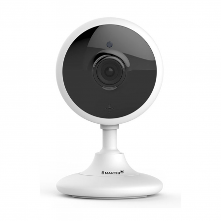 Baby Monitor Wireless V2, Rezolutie HD 1920 x 1080P, WiFi, Functia Night Vision, Aplicatie Telefon, Smartic®, alb [1]