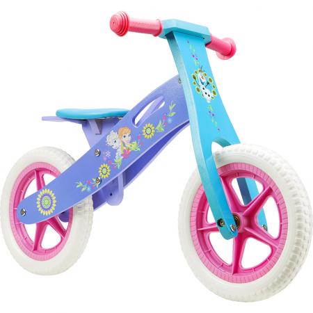 Bicicleta din lemn fara pedale cu manere anti-alunecare,cadru rezistent -Frozen Seven1