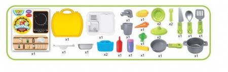 Bucatarie mobila copii in valiza cu accesorii SMARTIC®1