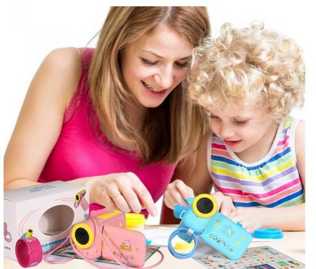 Camera Digitala Foto-Video pentru Copii, Fotografiere HD, Filmare HD, Albastru5