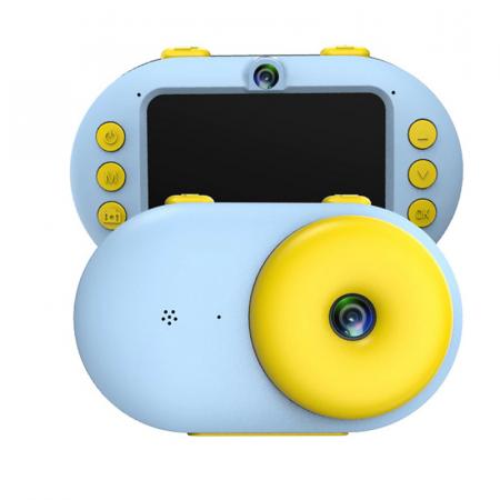 Camera foto digitala subacvatica, Magic Eye, 8MP, Functie Selfie, Rezistenta la apa, ecran HD 2.4 inch, Albastru2