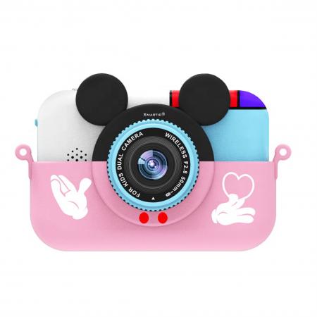 Camera foto/video pentru copii, Display 2 inch, Design Minnie Mouse, Rezolutie 1080P, Jocuri, MP3, Camera Duala, Smartic®, roz [0]