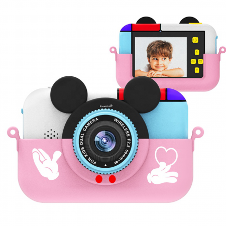 Camera foto/video pentru copii, Display 2 inch, Design Minnie Mouse, Rezolutie 1080P, Jocuri, MP3, Camera Duala, Smartic®, roz [1]
