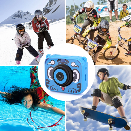 "Camera video sport SMARTIC®, camera digitala subacvatica pentru copii, 2.0"", full HD, albastru7"