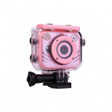"Camera video sport SMARTIC®, camera digitala subacvatica pentru copii, 2.0"", full HD, roz4"