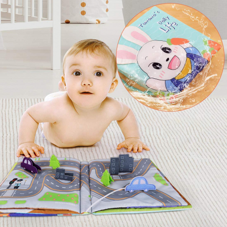 Carticica fosnitoare senzoriala Daily Life Tumama®, pentru dentitia copiilor si a bebelusilor6