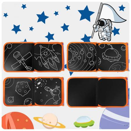 Carticica portabila cu 8 tablite Tumama®, pentru colorant si carioci, Cosmos, mov2