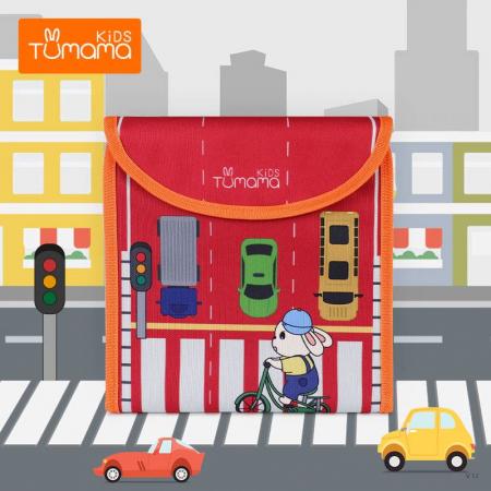 Carticica portabila cu 8 tablite Tumama®, pentru colorant si carioci, Transport, rosu1