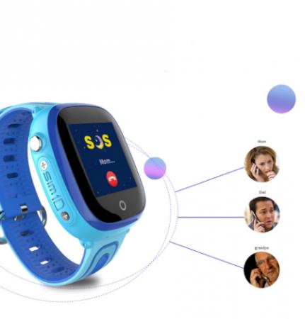 Ceas Smartwatch cu GPS pentru copii, Aplicatie Telefon, Impermeabil, Functie SOS, WiFi, SMARTIC®, Albastru2