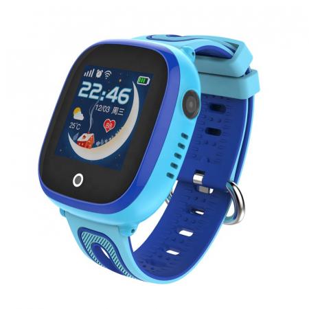 Ceas Smartwatch cu GPS pentru copii, Aplicatie Telefon, Impermeabil, Functie SOS, WiFi, SMARTIC®, Albastru0