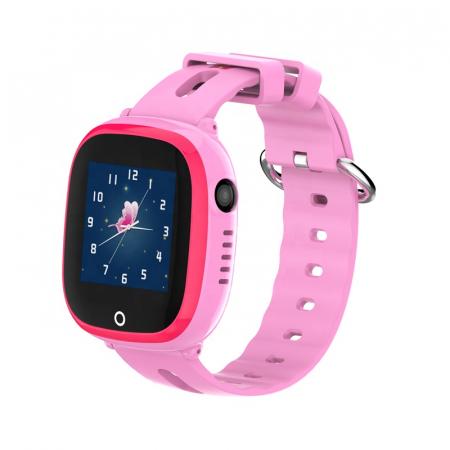 Ceas Smartwatch cu GPS pentru copii, Aplicatie Telefon, Impermeabil, Functie SOS, WiFi, SMARTIC®, Roz0