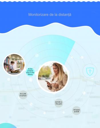 Ceas Smartwatch cu GPS pentru copii, Aplicatie Telefon, Rezistent la Apa IP67, Display 1.22 inch, Functie SOS, Wi-Fi, SMARTIC®, Mov [5]