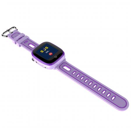 Ceas Smartwatch cu GPS pentru copii, Aplicatie Telefon, Rezistent la Apa IP67, Display 1.22 inch, Functie SOS, Wi-Fi, SMARTIC®, Mov [3]