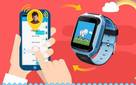 Ceas Smartwatch cu GPS pentru Copii, Smartic, Albastru, Dreptunghiular, functie apeluri, localizare GPS, camera foto, zona de siguranta, buton SOS1