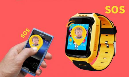 Ceas Smartwatch cu GPS pentru Copii, Smartic, Galben, Dreptunghiular, functie apeluri, localizare GPS, camera foto, zona de siguranta, buton SOS4