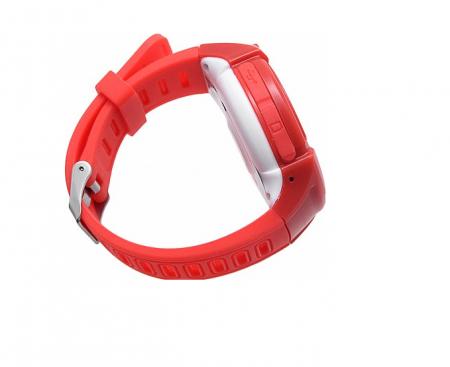 Ceas Smartwatch cu GPS pentru Copii, SMARTIC®, Rosu, Rotund, functie apeluri, localizare GPS, camera foto, zona de siguranta, buton SOS4