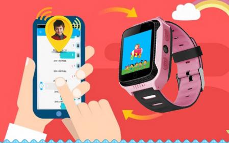 Ceas Smartwatch cu GPS pentru Copii, Smartic, Roz, Dreptunghiular, functie apeluri, localizare GPS, camera foto, zona de siguranta, buton SOS [1]